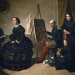 Valeriano Dominguez Becquer, le peintre carliste et sa famille, 1859.