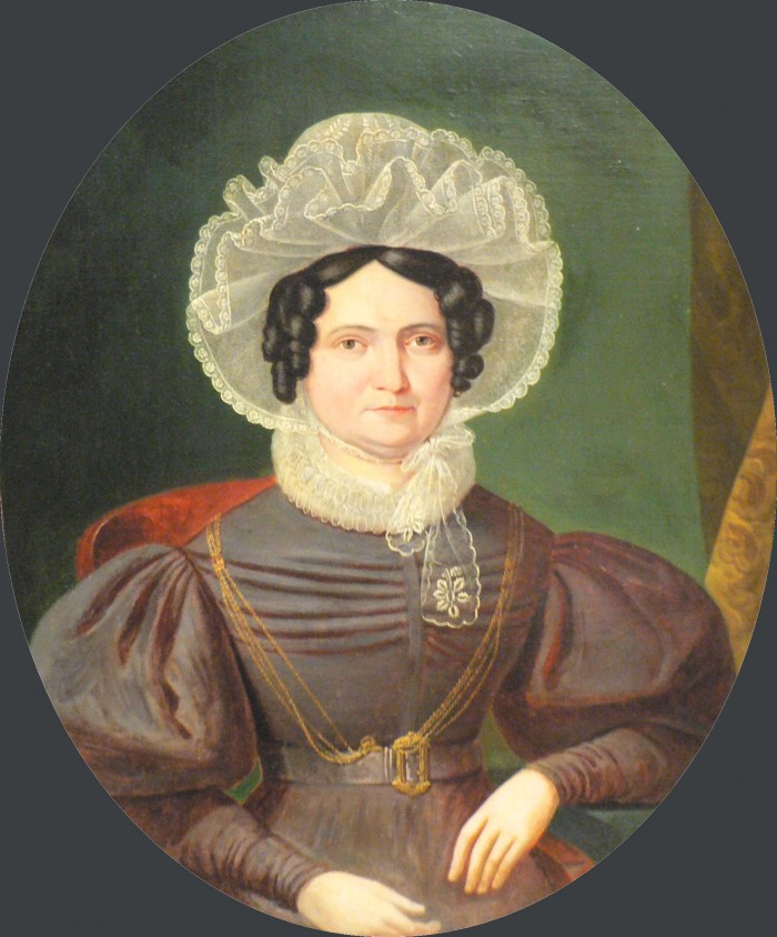 Portrait de femme, époque Restauration.
