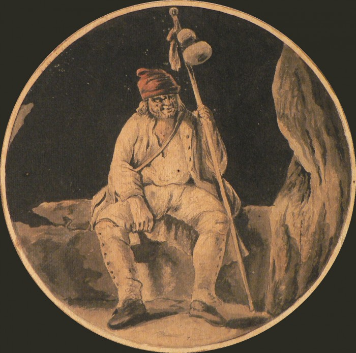 Gamelin Jacques, Homme assis, vers 1793.