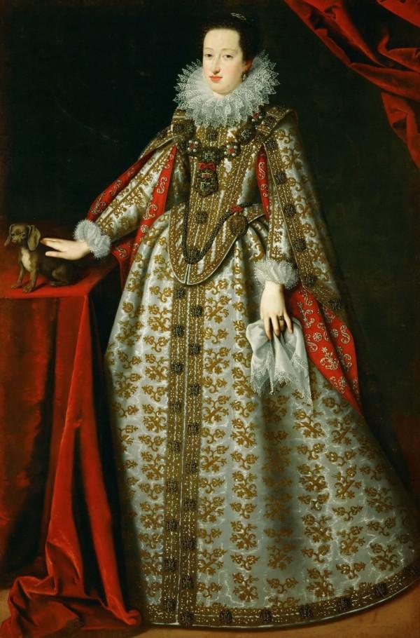 Portrait d'Eleonora Gonzaga en robe de mariée