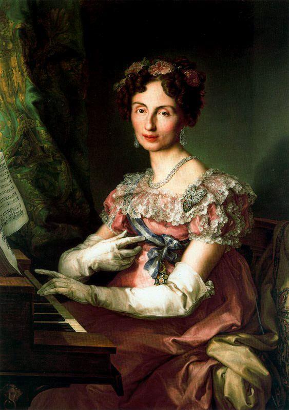 portrait de L'Infante Marie Amélie Fréderique Augusta de Sajonia, 1825.