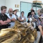 les délégations européennes en visite au centre de restauration ds oeuvres d'art du Conseil général