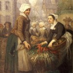 Scène de marché en Bretagne