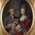 Portrait d'André Baréty, de sa nièce et de son petit neveu, vers 1785