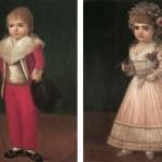 costumes d'enfants de la fin du XVIIIe s.