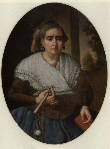Portrait d'une femme par José Campeche (Porto Rico, 1751-1809). Huile sur toile.