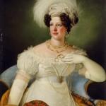 Giuseppe Tominz, portrait de Cécilia D'Auersperg, 1822.