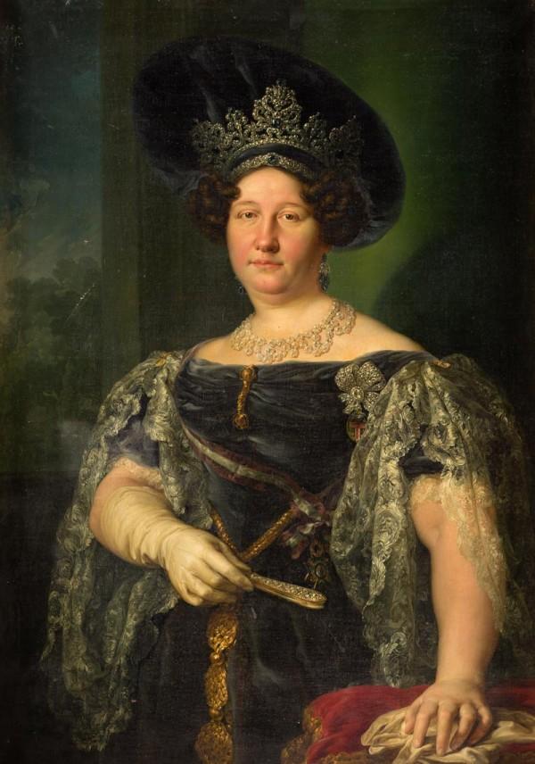 portrait de Marie Isabelle de Bourbon, Reine des deux Sicile.