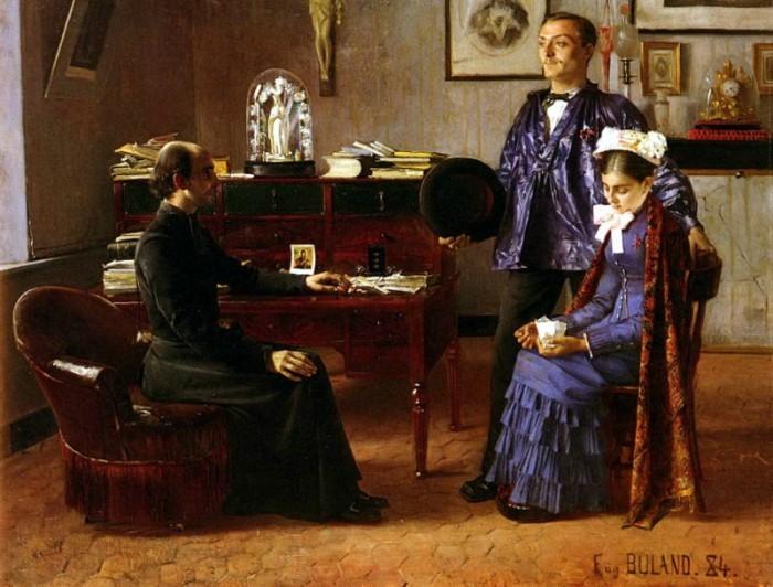 Eugène Buland (1852-1926), le lendemain de la nuit de noces.