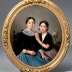 Jean-Marie JACOMIN (1789-1858) JEUNE FEMME ET FILLETTE