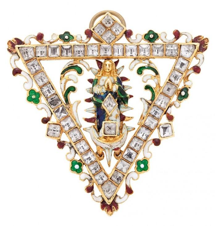 insigne de confrérie, Espagne, époque Renaissance.