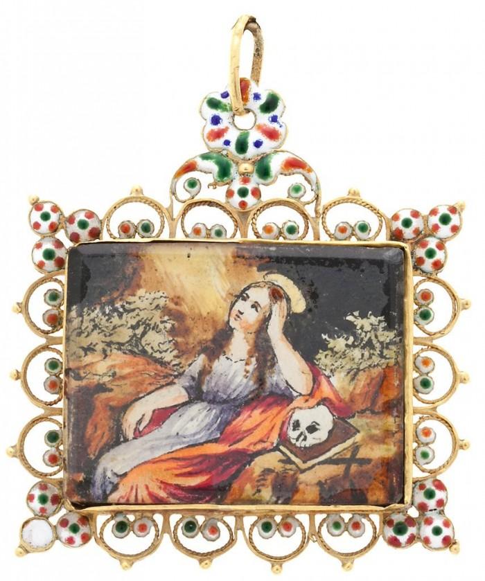 Médaillon religieux majorquin.