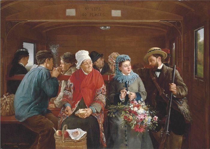 Un wagon de chemin de fer - 1878