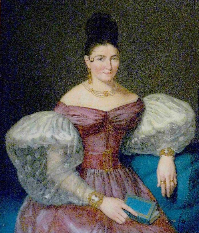 Anonyme, Coiffure-à-la-girafe, 1830.
