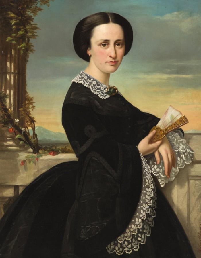 SALIERES, Paul-Narcisse (Carcassonne 1818 – Marseille 1908), portrait de femme