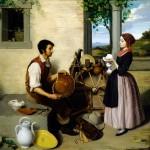 SALIERES, Paul-Narcisse, le restaurateur de faïences, 1848.