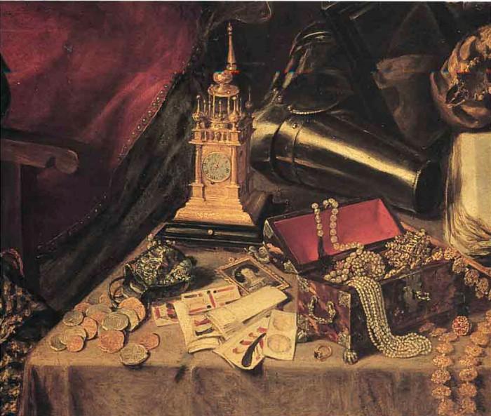 Antonio Pereda El sueño del caballero (Detalle). 1655
