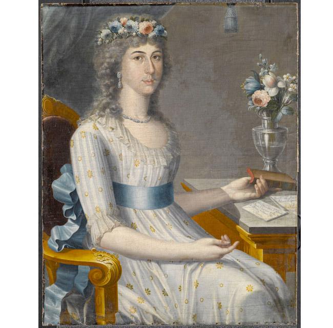 José Campeche (Porto Rico, 1751-1809). Doña María Gutiérrez de los Dolores del Mazo y Pérez, circa 1796. Huile sur toile, 34 x 25 po (86 x 64 cm). Brooklyn Museum
