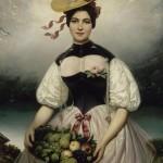 Joseph Désiré Court (1797-1865), portrait de jeune femme suisse, vers 1845.