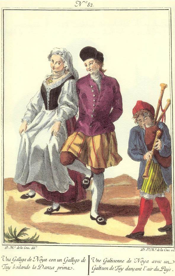 Costumes de Galice au XVIIIe s.