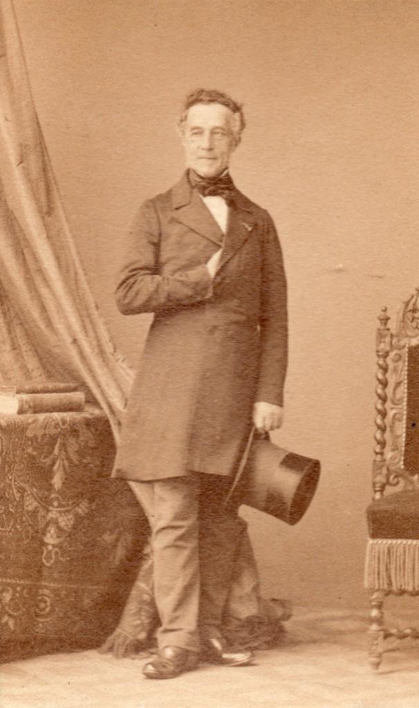 Justin Durand, Banquier à Perpignan, photo Disderi, Paris, 1860.