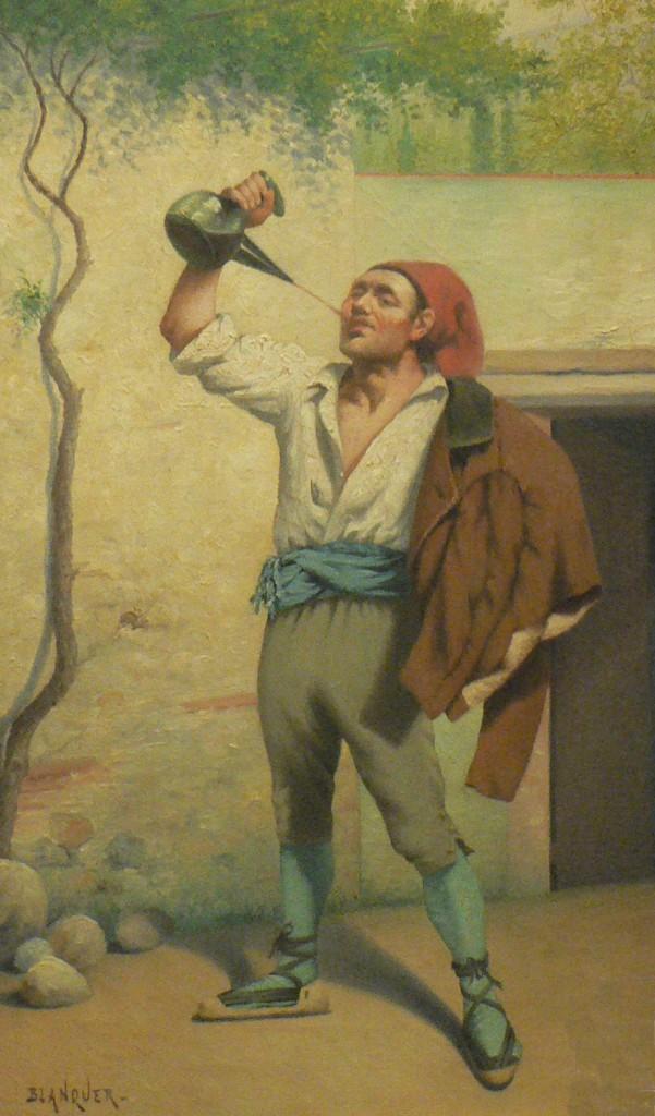 Blanquer, Catalan buvant à la régalade.