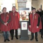 Le Président et deux membres de la Confrérie du Grenat de Perpignan.