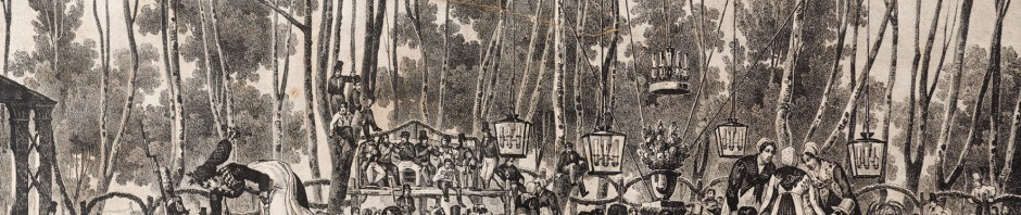 Bal roussillonnais sous les platanes, vers 1833, A.Bayot, Médiathèque de Perpignan.