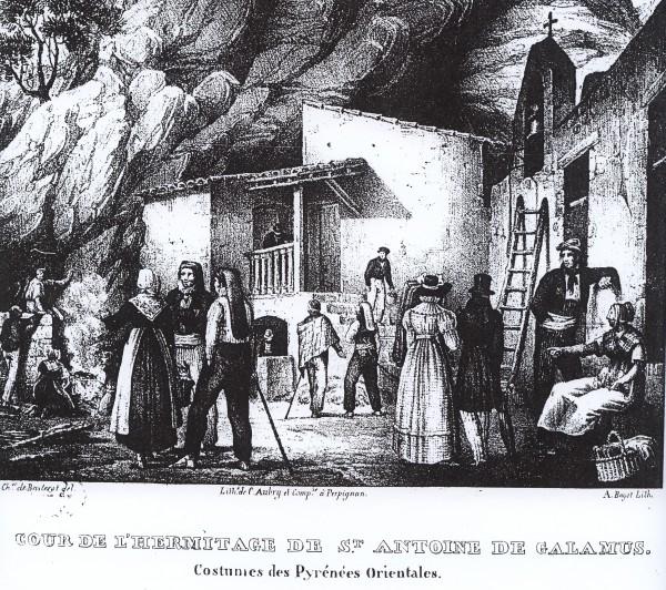 Ermitage de Galamus, 1829.