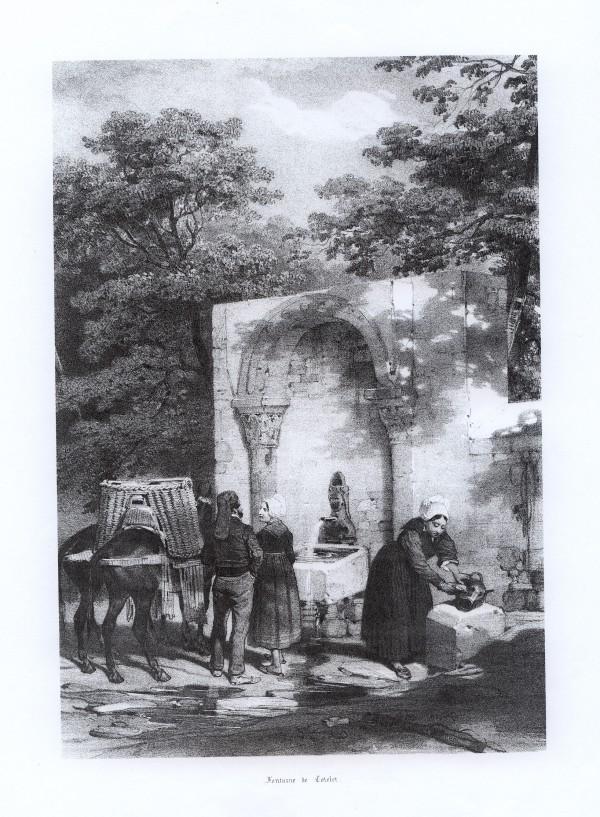 Fontaine de Codalet,  vers 1840.