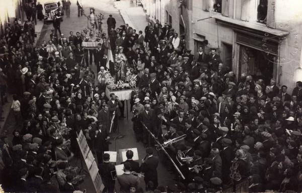 Ille sur Tet, procession du 21 avril 1935.