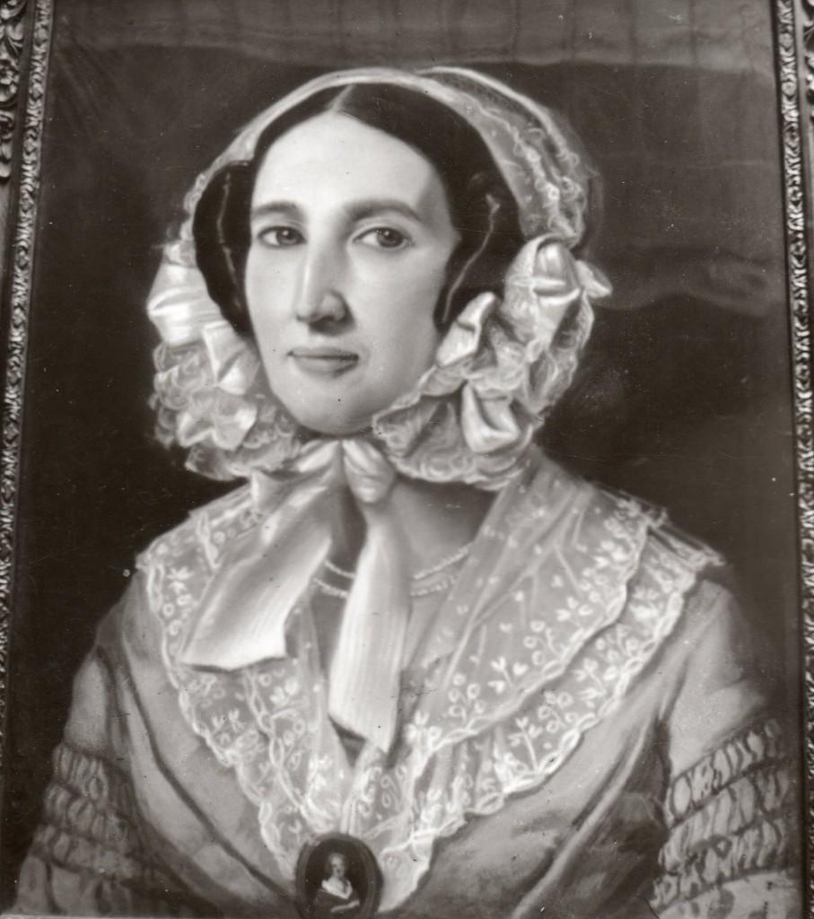 Photographie ancienne d'un portrait de femme au pastel, Perpignan, vers 1840.