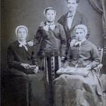 Mariage Pujol, Perpignan, photo Provost, vers 1886.