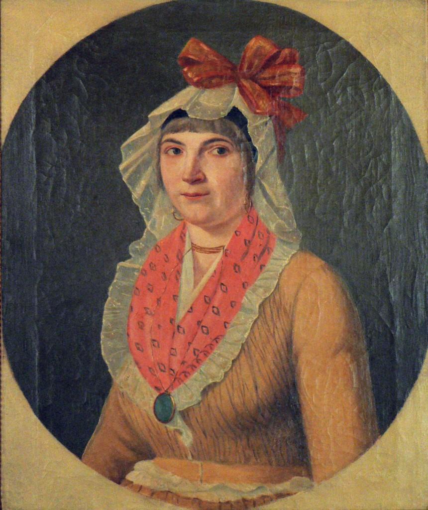 Vers 1800, portrait de languedocienne, hauts cantons de l'Hérault.