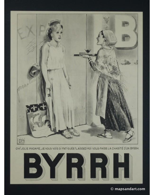 Publicité 1920 de la marque Byrrh