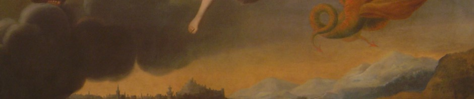 Rieudemont, Perpignan délivré de la Peste, 1732, Huile sur toile, ex voto peint 100 ans après le fléau de 1632.