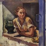 Collioure, katia à la terrasse-1930