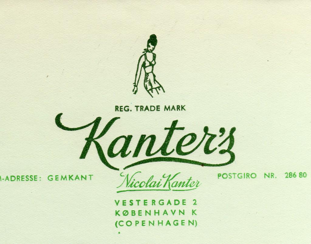 Entête de l'entreprise kanter's Copenhague.