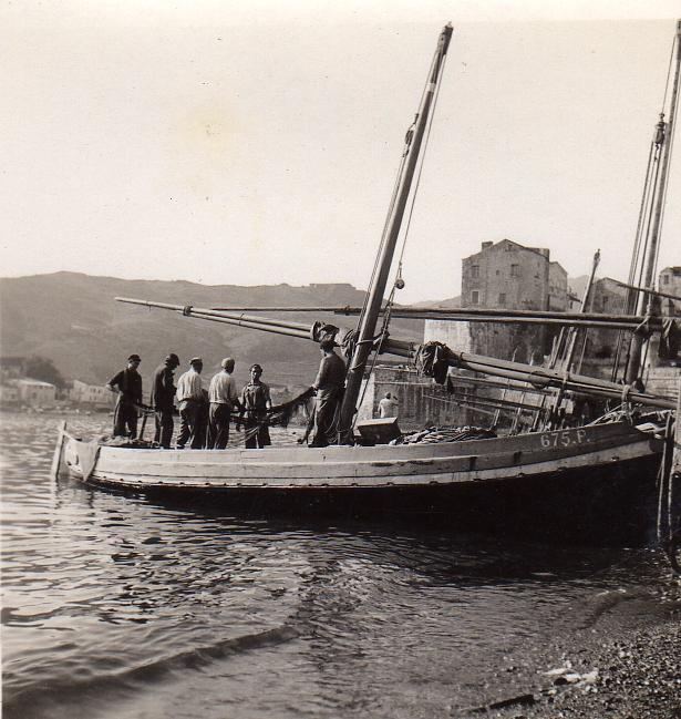 Collioure, pécheurs dans les années 1930.