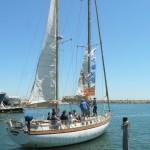 Le bateau au départ de saint-Cyprien pour Marseille.