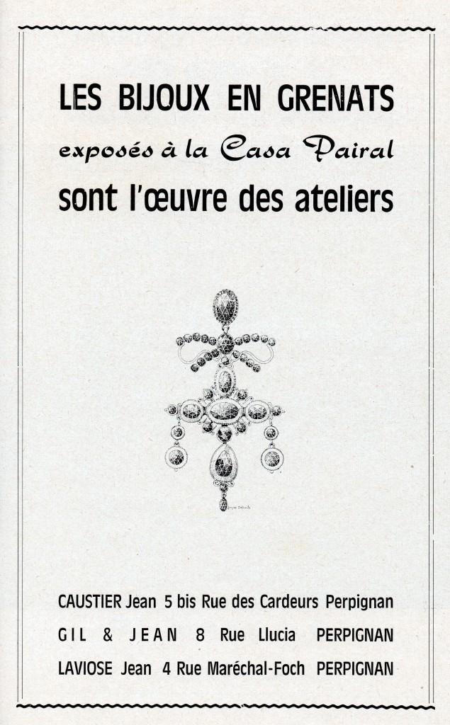 Casa Pairal, musée catalan des arts et traditions populaires, imp. du canigou,1969.