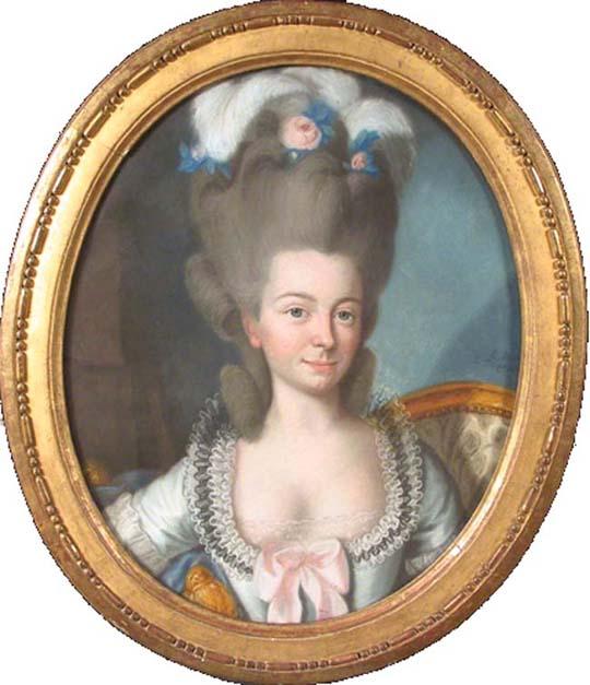 Pastel par le Chevalier de Saint-Michel.