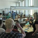 Cours de bijouterie à l'école de Turnov.
