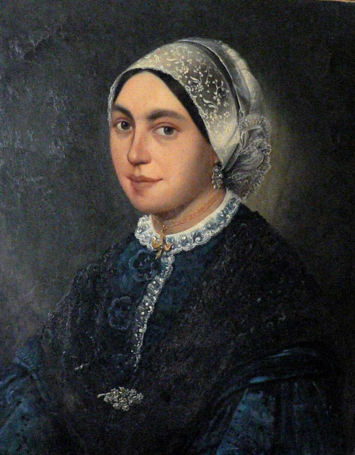 Portrait de Catalane, Perpignan, 1861.