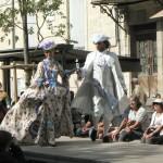 Robe à plis Watteau