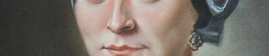 Portrait de femme en coiffe catalane, vers 1850.