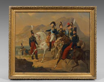 Le duc d'Angoulème et son escorte, cliché Drouot.com