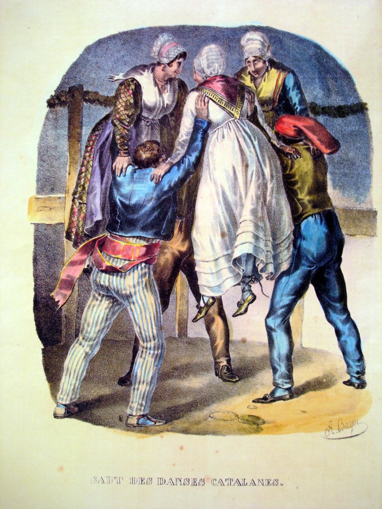 danses catalanes en 1830, la pleine apogée du costume traditionel catalan