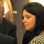 Sylvia PINEL, ministre de l'Artisanat est venue spécialement sur le stand du Bijou en Grenat de Perpignan.