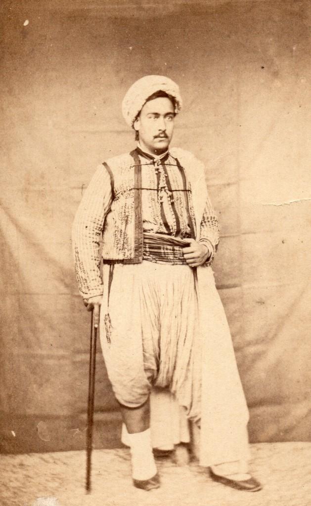 Portrait d'oriental, vers 1860.
